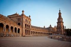 Plaza de Espana, Siviglia, Spagna Fotografia Stock Libera da Diritti