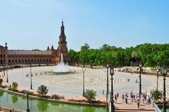 Plaza de Espana in Siviglia, Spagna fotografia stock