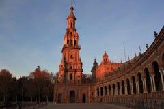 Plaza de Espana in Siviglia, Spagna. Fotografie Stock Libere da Diritti