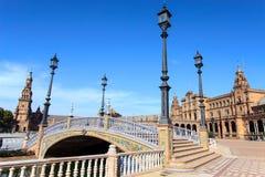 Plaza de Espana, Siviglia, Spagna Immagine Stock Libera da Diritti