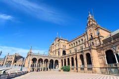 Plaza de Espana, Siviglia, Spagna Fotografia Stock