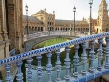 Plaza de Espana, Siviglia, Spagna Fotografie Stock Libere da Diritti