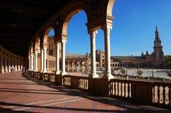 Plaza de Espana. Spain Square in Sevilla, Spain Stock Image