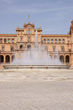 Plaza de Espana (Spain square) in Seville Stock Images