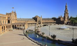 Plaza de Espana or Spain Square in Seville, Andalusia Royalty Free Stock Photos