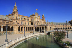 Plaza de Espana or Spain Square in Seville, Andalusia Royalty Free Stock Images