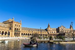 Plaza de Espana Spain Square in Seville, Andalusia, Spain royalty free stock photo