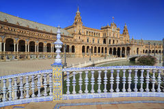 Plaza de Espana or Spain Square in Seville, Andalusia, Spain Royalty Free Stock Images