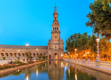 Plaza de Espana - Spanish Square in Seville, Andalusia Royalty Free Stock Image