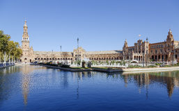 Plaza de Espana - Spanish Square in Seville, Spain Stock Photo