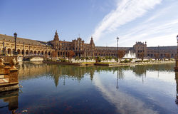 Plaza de Espana - Spanish Square in Seville, Spain Royalty Free Stock Photos