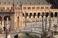 Plaza de Espana (square of Spain) in Sevilla Royalty Free Stock Photography