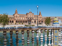 Plaza de Espana (Square of Spain) in Seville Stock Photos