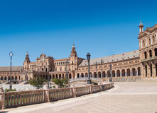 Plaza de Espana (Square of Spain) in Seville Stock Images