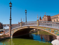 Plaza de Espana (Square of Spain) in Seville Royalty Free Stock Images