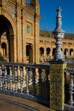 Plaza de espana (stället av Spanien) - Seville Royaltyfri Bild