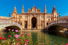 Plaza de Espana at sunny day in Seville, Spain Stock Photography