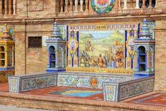 Plaza de Espana - thème d'Alicante Image stock