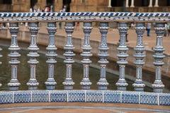Plaza de Espana, Tile work details Stock Images