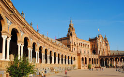Plaza de Espana. Tourist visit in Plaza de Espana on October 4, 2012 in Seville, Spain Royalty Free Stock Images