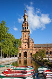 Plaza DE Espana Tower in Sevilla Royalty-vrije Stock Afbeeldingen
