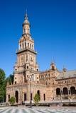 Plaza de Espana Tower in Seville Royalty Free Stock Photo