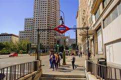 Plaza de Espanaa,马德里。 免版税图库摄影