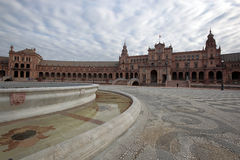 Plaza de Espania, Seville, Spain. Clouds pass over the Plaza de Espania in Seville, Spain Stock Photography