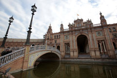 Plaza de Espania, Seville, Spain. Clouds pass over the Plaza de Espania in Seville, Spain Stock Images