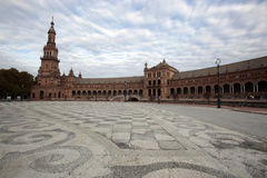 Plaza de Espania, Seville, Spain. SEVILLE, SPAIN -- NOVEMBER 4, 2010 -- The Plaza de Espania is the iconic public courtyard of Seville, Spain Stock Photo