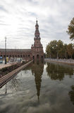 Plaza de Espania. SEVILLE, SPAIN -- NOVEMBER 2010 -- Plaza de Espania, the iconic public courtyard of Seville, Spain Stock Photos