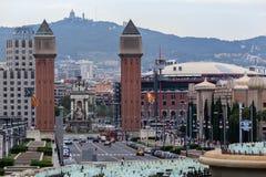 Plaza de Espanya Βαρκελώνη Στοκ Εικόνα