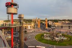 Plaza de Espanya Βαρκελώνη Στοκ Φωτογραφίες