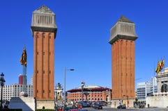 Plaza de Espanya στη Βαρκελώνη, Ισπανία Στοκ Εικόνες