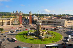 Plaza de Espanya Stock Image