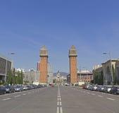 Plaza de Espanya in Barcelona, Spain. Stock Photos