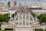 Plaza de Espanya Fountain Barcelona Lizenzfreie Stockfotos