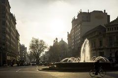 Plaza de Gracia i Barcelona, Spanien Fotografering för Bildbyråer
