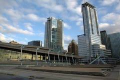 Plaza de Jack Poole, Vancouver, BC Images libres de droits