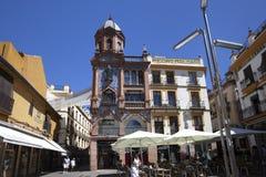 Plaza de Jesus de la Pasion, Seville, Spanien, 2013 royaltyfria bilder