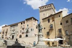 The Plaza de Juan Bravo in the old town of Segovia, Spain. Stock Images