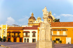 Plaza de la Aduana in Cartagena Lizenzfreie Stockfotos