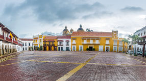 Plaza de la Aduana - Cartagena de Indias, Colombia Imagen de archivo libre de regalías