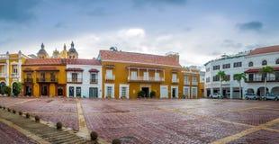 Plaza de la Aduana - Cartagena de Indias, Kolumbien Lizenzfreie Stockfotografie
