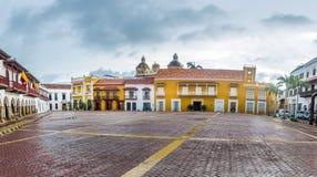 Plaza de la Aduana - Cartagena de Indias, Kolumbien Lizenzfreies Stockbild