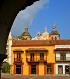 Plaza de la Aduana, Cartagena, Kolumbien Stockfoto