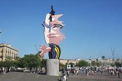 Plaza de la cabeza de Barcelona, Barcelona Imagenes de archivo