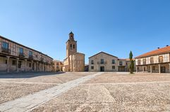 Plaza de la Casa de campo e quadrado do chuch de Santa Maria da vila, fotos de stock