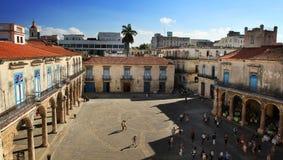 Plaza de la Catedral在哈瓦那 免版税图库摄影