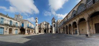 Plaza De La Catedral Havana, Kuba Lizenzfreies Stockfoto
